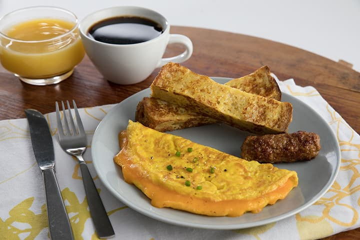 Omelette Sausage French Toast