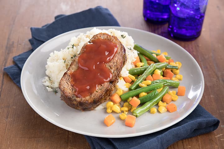 Meatloaf with Mixed Vegetables